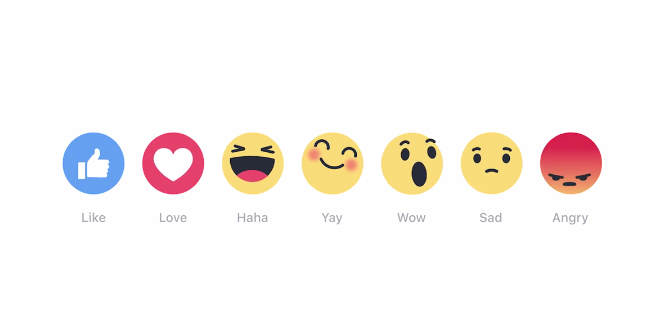 Facebook「反應 Reaction」按鈕